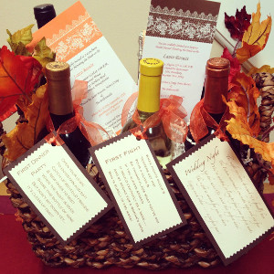 Wine Basket of Firsts AllFreeDIYWeddings.com