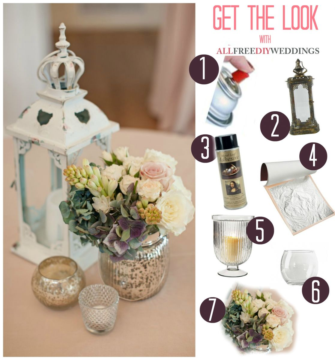 Antiqued Rustic Wedding Centerpieces
